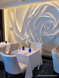 Blu Restaurant on Celebrity Reflection, the new cruise ship from Celebrity Cruises More