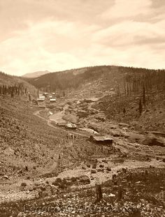 Placer gold was discovered in California Gulch near Leadville, Colorado in late 1859 and by the spring and summer of thousands of prospectors were pouring into the area Central City Colorado, Leadville Colorado, Panning For Gold, Cloud City, Twin Lakes, Photo Restoration, American Frontier, City Scene, Le Far West
