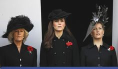 Kate Solemn in Black for Remembrance Sunday