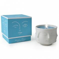 Shop Jonathan Adler Muse Bleu Ceramic Candle at Steelz. The Jonathan Adler Muse Bleu Ceramic Candle Candles And Candleholders, Blue Candles, Scented Candles, Candle Jars, Candle Holders, Candle Containers, Jonathan Adler, Muse, Candle Packaging