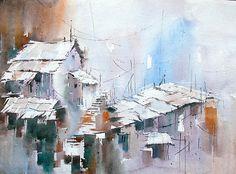 Painting - Top View by Vilas Kulkarni