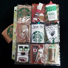 first pocket letter received! #pocketletterpal #Starbucks #coffee #jeodtilo