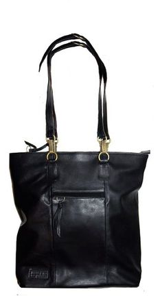 Beau & Ro Bag Company Women's The New Yorker Tote + Backpack in Black Leather