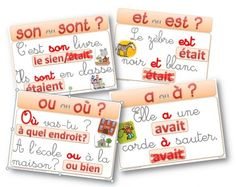 Affichage Orthographe CE1/CE2 (CM2 aussi : malheureusement toujours utile...) French School, French Class, French Teacher, Teaching French, French Education, Kids Education, Les Homophones, Core French, French Grammar