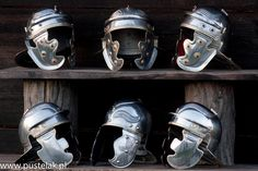 Legio XXI Rapax helmets by Pustelak Brothers Workshop