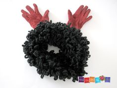 Chunky Cowl , Infinity Scarf , Bulky Cowl , Knit Cowl Scarf , Black scarf , Knitted Neck Warmer , Chunky Yarn Knit , Neck Wrap , Bagel Scarf by HowDoYouDoIt on Etsy
