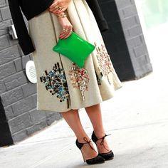From New York Fashion Week #shoes #heels #newyork #nyc #nycfw #nyfw #style #street #styling #stylish #streetstyle #green #clutch #skirt #luxury #luxuryheels #luxuryshoes #luxuryskirt #womenssfashion #girl
