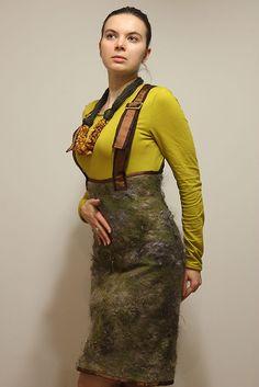 """Купить Валяный сарафан по мотивам """"Течение жизни"""". - юбка, сарафан, валяная юбка, валяный сарафан"""