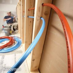 PEX tubing and fittings are starting to push copper out of home-handyman (and plumbers') toolboxes. Learn tips for working with it and what all the specialized tools and fittings are for in this article. Vintage Farmhouse, Pex Plumbing, Plastic Plumbing Pipe, Bathroom Plumbing, Plumbing Fixtures, Basement Bathroom, Bathroom Fixtures, Do It Yourself Furniture, Welding Table