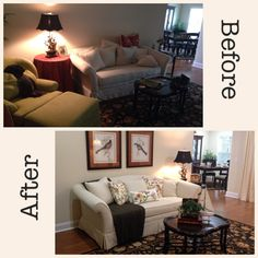 It's amazing how adding light, removing bulky clutter and rearranging items can make your home so much more appealing and beautiful. Best Kitchen Colors, Kitchen Paint Colors, Home Staging Cost, Library Table, Sell Your House Fast, Red Walls, Home Hacks, Home Lighting, Wall Colors