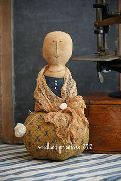 old fashion sewing doll pinkeep
