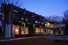 Duke University's SmartHouse dormitory, a LEED platinum building. Duke now requires that all future construction be certified by the U.S. Green Building Council.