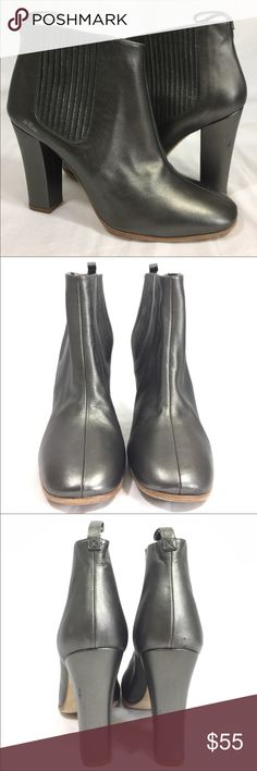 Marc By Marc Jacobs Ankle Boots Heels Pewter Beautiful boots with some scuffs/scratches to the leather heels. Minimal wear to the soles. Heel height is approximately 4 inches. The width measures 3 inches on the bottom of the boot. Marc By Marc Jacobs Shoes Ankle Boots & Booties