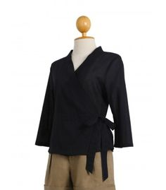 This black all cotton blouse is a must have in your wardrobe!