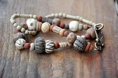 Hey, I found this really awesome Etsy listing at https://www.etsy.com/listing/171457647/rustic-necklace-handmade-ceramic-beads