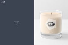 Candle in Gift Box Mockup by dennysmockups on @creativemarket