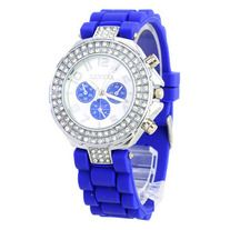 -Usually Ships in 1-2 business days Ships From:(Hong Kong)Warehouse -Worldwide Free Shipping  Shipping & Delivery -Worldwide Free Shipping>>(Hong Kong) Air Mail>>Delivery Time 7-15(business days)  This item combines soft silicone wristband and shining crystal rhinestone covered on dial,it ...