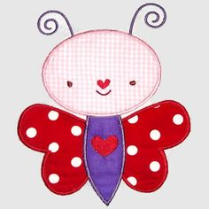 Butterfly Heart Machine Embroidery Design by SimplySweetEmbroider, $5.00
