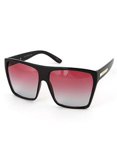 753a0c6e1221 DETAILS: - Oversized flat top plastic frame - Available in five colors -  Unisex -