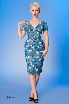 #blue #japanese #crane dress