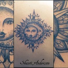 sun tattoo dotwork tattoos on Instagram Compass Tattoo Meaning, Tattoos With Meaning, Dream Catcher, Moon, Instagram, Meaning Tattoos, The Moon, Dreamcatchers, Symbolic Tattoos