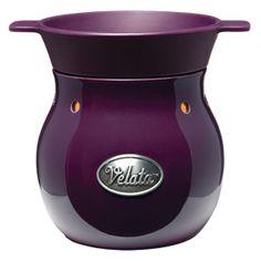 Aubergine Velata Fondue Warmer  This sophisticated warmer is glazed in deep, glossy purple.