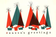 "That Christmasy Feeling (@thatchristmasyfeeling) on Instagram: ""Vintage Christmas card, via profkaren on Flickr."""