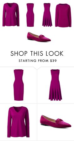"""RASPBERRY"" by fultonhoward ❤ liked on Polyvore featuring Lands' End and plus size clothing"