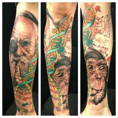 Darwin's evolution sleeve by Josh Payne.