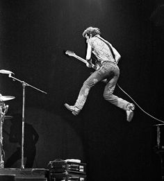 The Boss defies gravity.