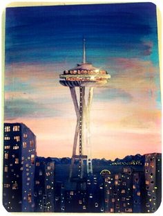 painting of Seattle