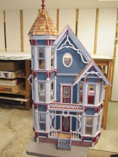 All wood new and unsued Dura Craft San Franciscan Dollhouse #DuraCraft