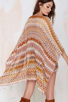 Vintage Missoni Vitalia Knit Poncho -