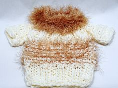 Little Furry RaskelsDoggy sweater ivory gold by CanineCoutureLTD, $35.00