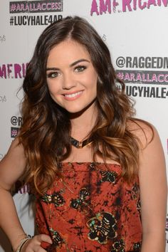 At a Macy's campaign event in Sherman Oaks, CA, the Pretty Little Liars star showed off perfect beach waves tinted with a honey, ombré color job.