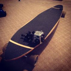 :D put the gopro mounts on the front and back. Gonna go try it out! I want a go pro cam so bad ! Go Pro Cam, Gopro Diy, Hero 3, Longboarding, Skateboard, Surfing, Tips, Youtube, Ideas