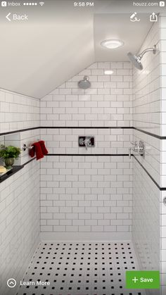 bathroom tiles black and white. Interesting Black Rvington Attic To Master Suite Renovation  Traditional Bathroom  Portland Fouch Building U0026 Remodeling For Tiles Black And White C