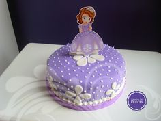 Cake sofia the first Princess Sofia Cake, Princess Sofia Birthday, Sofia The First Birthday Cake, 3rd Birthday, Sophia Cake, Princesa Sophia, Barbie Cake, Character Cakes, Decoration Table
