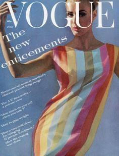 Deborah Dixon, Vogue cover by Bert Stern, July 1961 Foto Fashion, 1960s Fashion, Vogue Fashion, Vintage Fashion, High Fashion, Steampunk Fashion, Gothic Fashion, Daily Fashion, Fashion Tips