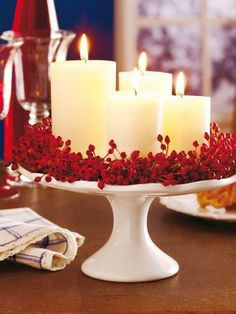 ▷ 1001 + Advent wreath ideas for DIY - white beautiful candles and ad . - ▷ 1001 + Advent wreath DIY ideas – white beautiful candles and advent wreath – crafting tips - Dollar Store Christmas, Christmas Candle, White Christmas, Christmas Diy, Outdoor Christmas, Christmas Decor Diy Cheap, Christmas Table Decorations, Snow Decorations, Homemade Decorations