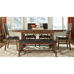 5PC:ST-3884DINING Intercon 5-Piece Dining Set RC Willey