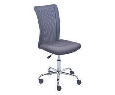Poltrona da scrivania in metallo bonnie grigia colore Grigio  ad Euro 89.00 in #Inter link sas it #Furniture chairs stoolspoufs