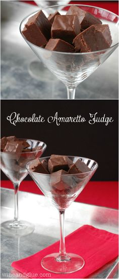 Chocolate Amaretto Fudge! You are only four ingredients away from this amazing fudge!