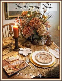 Thanksgiving Table I love transfer ware