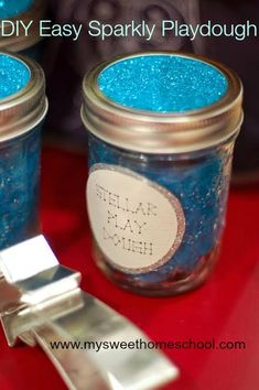 My Sweet Homeschool: Easy DIY: Make your own sparkly playdough
