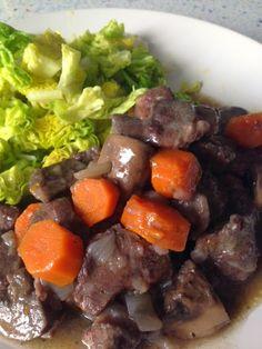 Guiso de carne al vino tinto / Wine Beef Stew, from Blue Cuisine