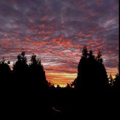 Seattle fall sunsets