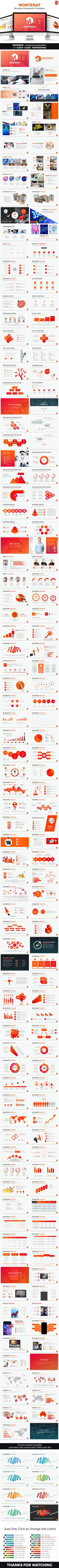 Monterat  Business Powerpoint Template  #productivity #yellow • Download ➝ https://graphicriver.net/item/monterat-business-powerpoint-template/18425572?ref=pxcr
