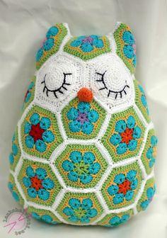 Africa Flower Owl plush