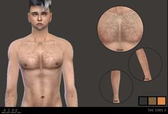 Realistic Looking Body Hair.Found under either the Tattoo or Gloves category.Adds hair to your Sims Chest, Legs, Arms and Armpits.Custom CAS image.3 colours.- Please ask for permission before editing or re-distributing.- Don't re-upload.- Link to this post not directly to the download file.Happy Simming!-DOWNLOAD-